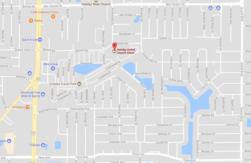 Holiday Florida Map.Holiday United Church Of Christ Welcome